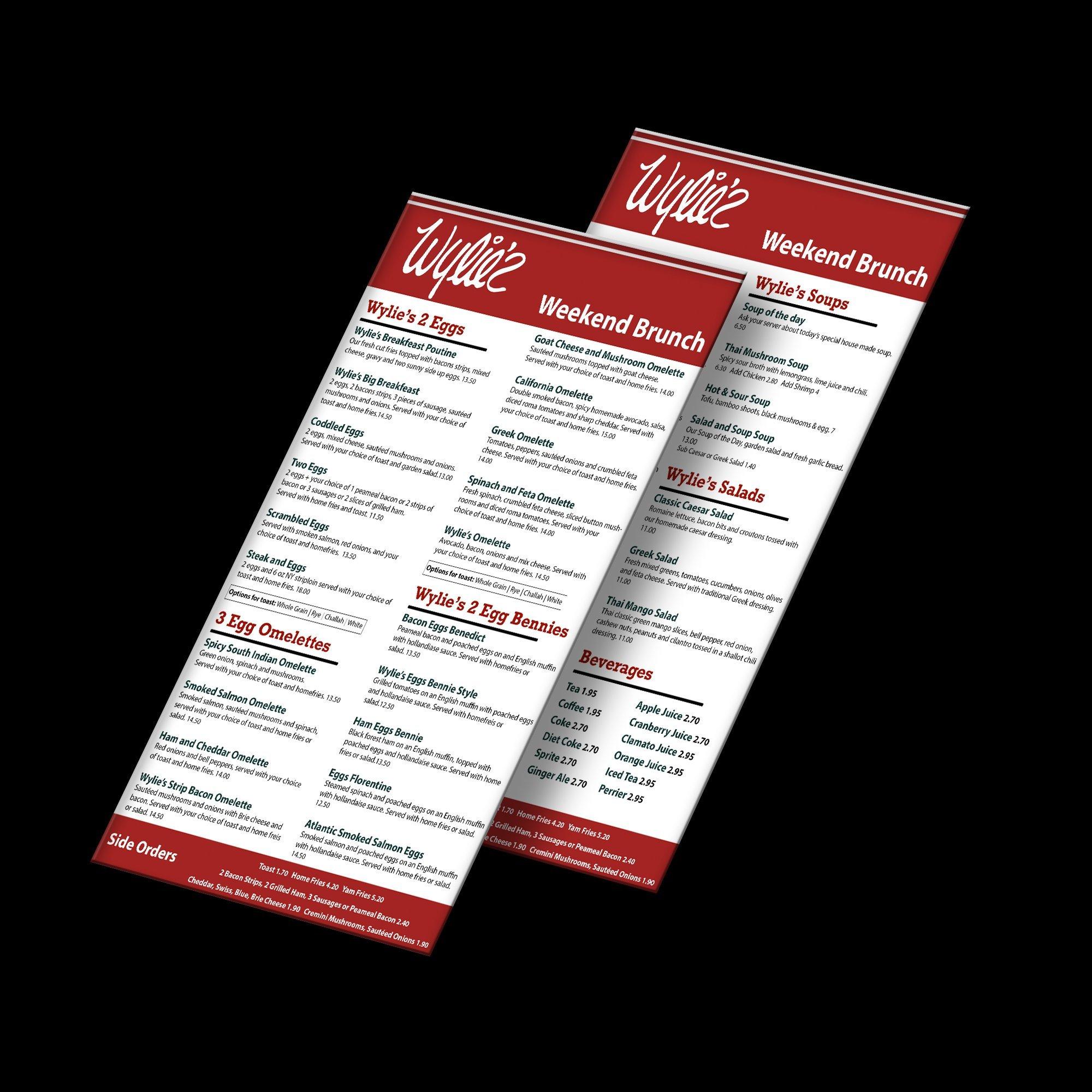 burnch menu web